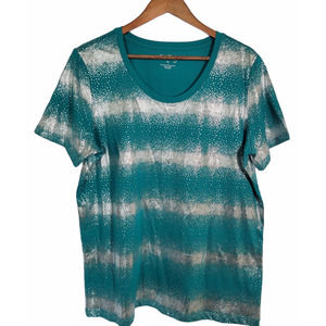 Coral Bay Teal/Silver Shimmer Tee